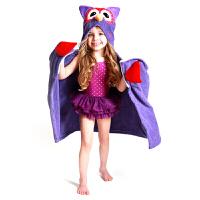儿童浴巾儿棉卡通带帽斗篷婴儿柔吸水定制