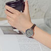 简约小表盘方形复古文艺手表女式休闲细带石英表