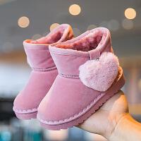 【3折价:69.9元】回力童鞋旗舰店儿童雪地靴女童冬款靴子女孩加厚加绒棉靴保暖鞋子