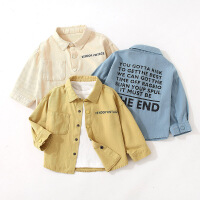 男童衬衫秋季儿童长袖衬衣外套男宝宝上衣