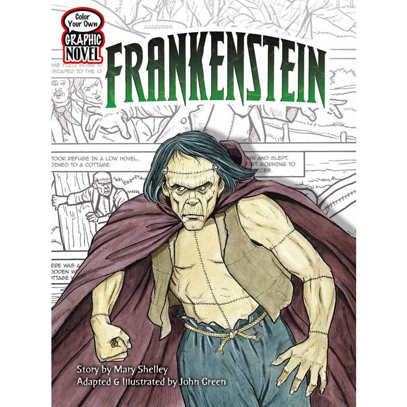 Color Your Own Graphic Novel FRANKENSTEIN 按需印刷商品,15天发货,非质量问题不接受退换货。