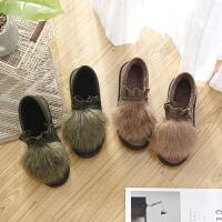 棉拖鞋女冬季月子鞋包跟居家居产后室内厚底外穿冬毛毛棉鞋软底秋