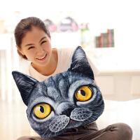 礼无忧 生日礼物女生女友老婆  3D猫星人猫咪抱枕靠枕毛绒公仔 男友创意实用家居礼品