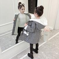 女童冬装加厚外套2018新款中大童韩版时髦保暖大衣儿童女宝宝风衣