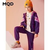 【1件3折:270】MQD童装加厚女童套装2019冬季新款加绒连帽保暖拼接儿童套装潮酷