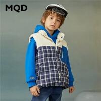 【折后券后�A估�r:164】MQD童�b男童棉衣2020秋冬新款大童潮服背心�和��n版加厚保暖�R甲