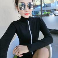 半高领紧身毛衣女秋冬新款韩版修身套头针织衫女长袖百搭打底上衣