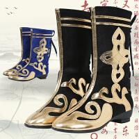 男女儿童表演打鼓鞋少数民族蒙古靴子新款藏族演出舞蹈靴子