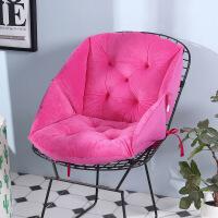 新品冬季毛绒餐椅垫藤椅加厚保暖坐垫办公室护腰坐垫靠垫一体电脑椅垫 通号