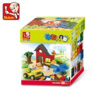 快乐小鲁班通用款小颗粒积木 桌面拼装儿童玩具塑料积木 兼容乐高拼插积木4-6-12岁男孩生日礼物