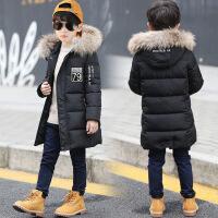 男童棉衣男孩棉袄加厚儿童中大童装冬天冬装中长款外套小孩新衣服