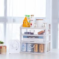 FaSoLa 化妆品收纳盒 大号透明防尘抽屉式护肤品收纳架桌面收纳盒