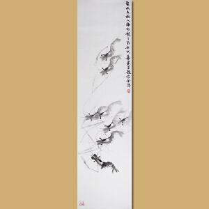 """""""白石遗风""""江苏省美术家协会会员 水墨名家 伏艺先生作品――聚水成虾  入海化龙"""