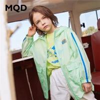 【2件3折:144】MQD童装男童防晒服2020春夏新款儿童工装轻薄外套卡通印花皮肤潮