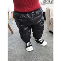 婴童装秋冬装2-3岁女童宝宝羽绒裤外穿婴儿保暖裤加厚长裤