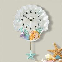 钟表挂钟客厅个性创意时尚北欧风现代简约艺术静音家用钟卧室时钟 白色 10英寸