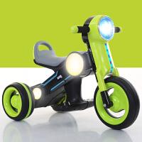 萨玛特儿童电动摩托车 三轮车 可坐人宝宝玩具车灯光+音乐早教