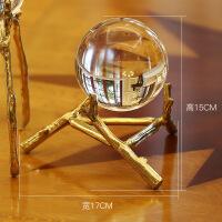 [新品上市]水晶球摆件欧式客厅电视柜房间书柜办公室美式酒柜家居北欧装饰品