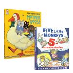 廖彩杏推荐2本套装 Five Little Monkeys 五只猴子 my very first mother goo