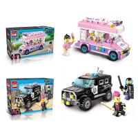 启蒙积木拼装玩具男孩智力城市警察模型5-6-8岁儿童积木生日礼物抖音