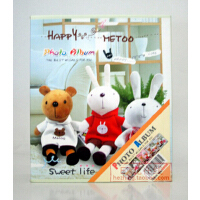 可爱metoo小熊相册 4D/大6寸相册40张 盒装相册 E款