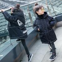 儿童棉衣外套加厚中长款男童冬装5宝宝棉袄2小孩羽绒3岁4冬季 黑色 80cm