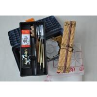 马利国画颜料工具17件套装 笔墨纸砚俱全 书法毛笔练习须备