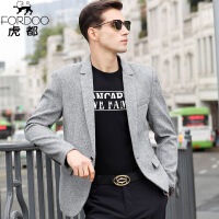 虎都休�e西服男�b商�蘸象w青年中年春秋季男士�\色西�b上衣外套HDNJ2904