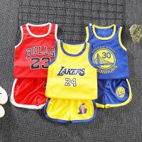 儿童套装女男童背心短裤夏季潮洋气中小童篮球服运动套装