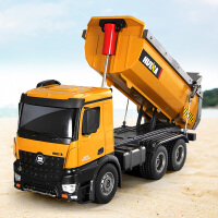 电动翻斗车大型自卸车儿童玩具男孩遥控合金工程车模型大卡车