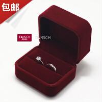 婚�Y首�盒 求婚�@戒盒��戒盒 高�n�q布戒指盒耳�盒收�{手�盒子