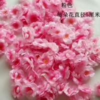 头上带的玫瑰绢花 仿真桃花朵桃花瓣玫瑰花绢花梅花樱花树婚庆拍摄道具头饰B