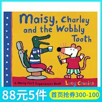 英文原版 小鼠波波系列Maisy Charley and the Wobbly Tooth摇摇晃晃的牙齿 幼儿早教启蒙认