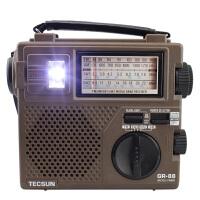 赠耳机!德生收音机 Green-88 手摇充电 应急灯 便携式收音机 半导体 全波段收音机