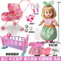 儿童玩具女孩过家家推车带娃娃带娃女童宝宝小推车婴儿推车
