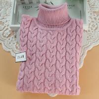 儿童毛衣女童套头打底衫中大童男童线衣精棉针织衫高领8022