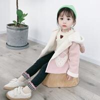 女宝宝秋冬加绒洋气开衫外套2019秋冬季新款韩版儿童风衣女童秋冬装外套