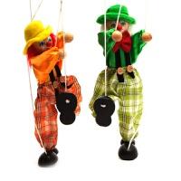 儿童传统怀旧玩具 提线木偶人偶小丑 幼儿园礼物