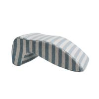 日式多功能午睡枕新款 手枕午休小枕头办公室靠垫条纹定制 中号