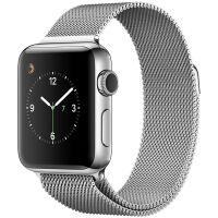 Apple Watch Series 2智能手表(42毫米不锈钢表壳 米兰尼斯表带 GPS 50米防水 蓝牙 MNPU