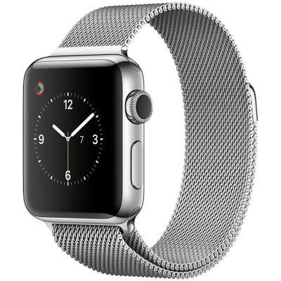 Apple Watch Series 2智能手表(42毫米不锈钢表壳 米兰尼斯表带 GPS 50米防水 蓝牙 MNPU2CH/A)可使用礼品卡支付 国行正品 全国联保
