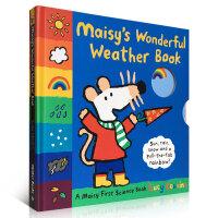 顺丰发货 Maisy is Wonderful Weather Book 小鼠波波天气书 翻翻书 幼儿启蒙认知英文原版亲子读物 精装大开本 趣味读物