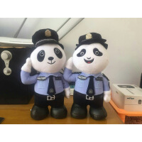 熊猫警官站款 警察熊 police警察公仔泰迪熊警察毛绒玩具小熊玩偶 20厘米-29厘米