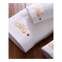 五星级酒店浴巾三件套纯棉纯白色毛巾套装加厚全棉毛圈70x140定制