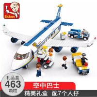 小鲁班legao积木飞机系列大型客机拼装飞机儿童类玩具6岁以上