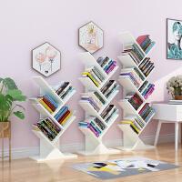 创意树形书架落地简易置物架经济型学生小书柜家用省空间儿童简约