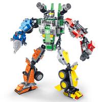 星钻积木 塑料拼插玩具 酷垒式可变星球大战机器人 五合一装大力神81523