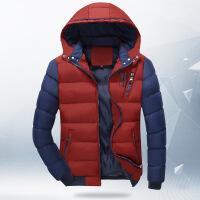 新款秋冬男士保暖连帽休闲棉服加厚冬季外套大码男装