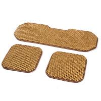 香柏木木珠汽车坐垫三件套无靠背通用透气防滑单张单片座垫椅垫