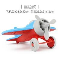 儿童耐摔玩具飞机模型 宝宝沙滩滑行玩具车仿真螺旋桨战斗机1-3岁